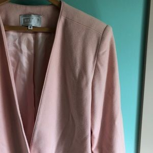 Vintage Jackets & Coats - VTG 80s Pink Wool Blazer